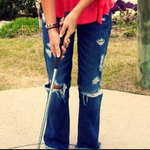 Flare Abercrombie & Fitch Distressed Jeans